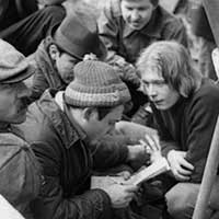 апрель 1981 <br>Кафедра Кибернетики на воскреснике
